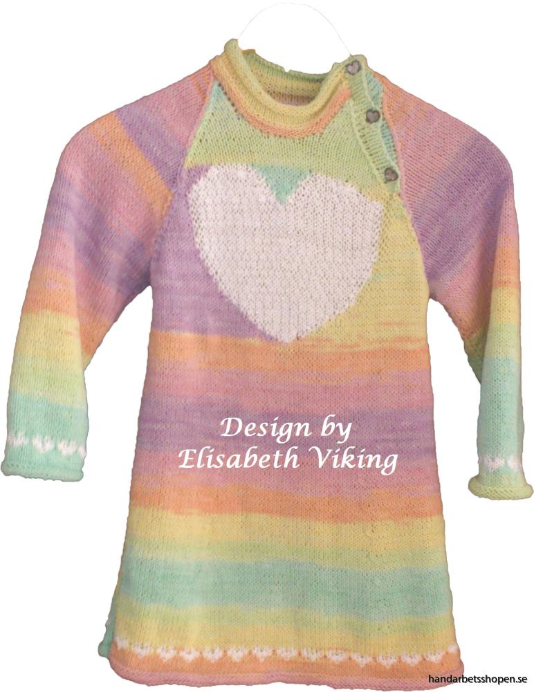 Flickklänning med hjärta 2
