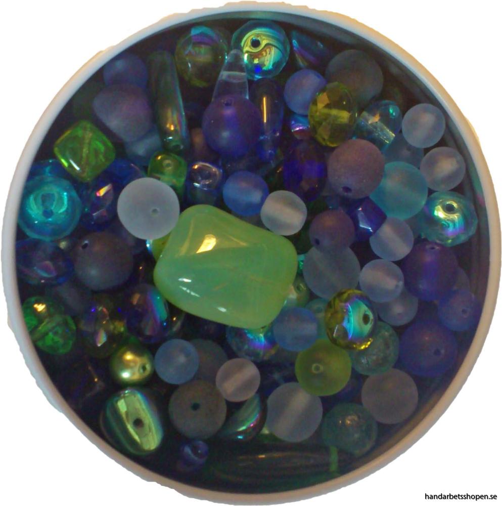 Pärlor blå 2