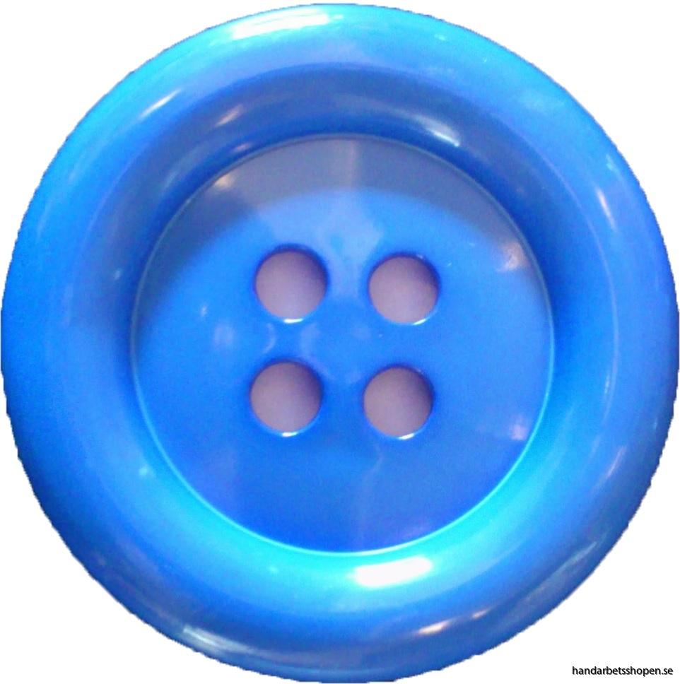 Blå clownknapp