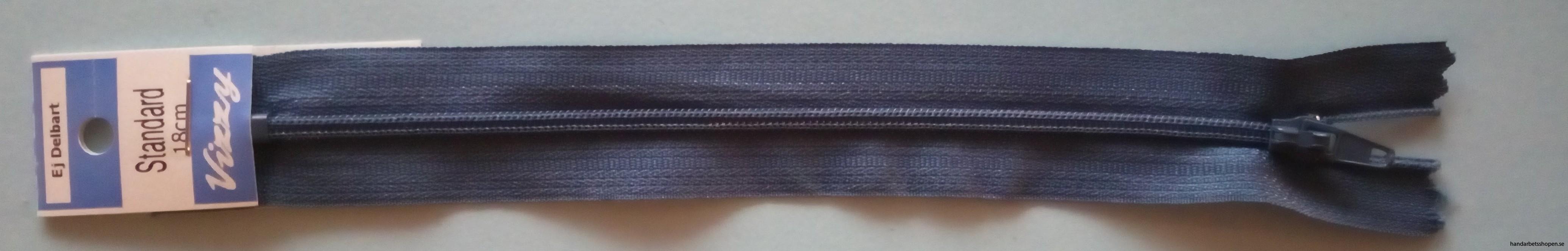 Blixtlås 18 cm Jeansblå
