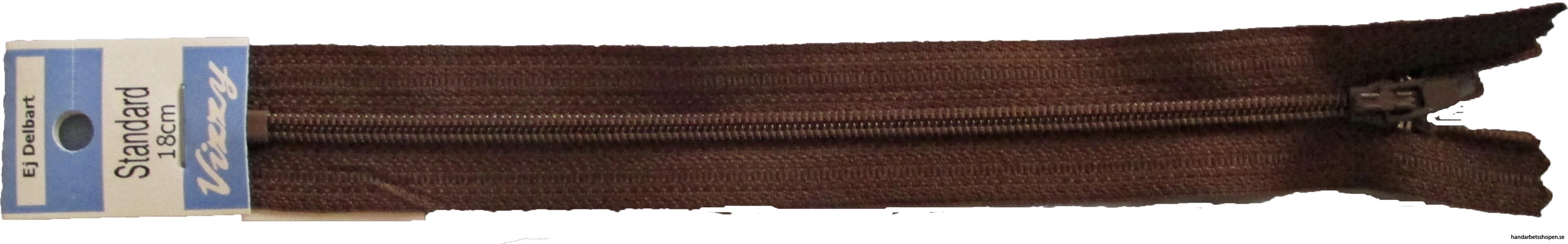 Bllixtlås 18 mm brun