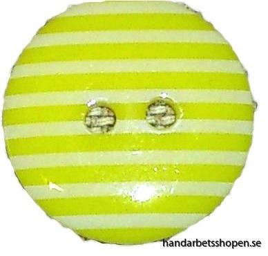 Randig gul knapp 4