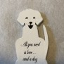 Kylskåpsmagneter - All you need is love and a dog