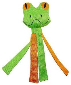 Pritax Chew Frog Green & Orange - Pritax Chew Frog Green & Orange
