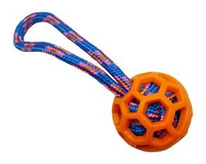 Pritax orange TPR-boll m blått rep - Pritax orange TPR-boll m blått rep