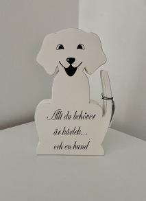 Stående hund med text - Stående hund med text