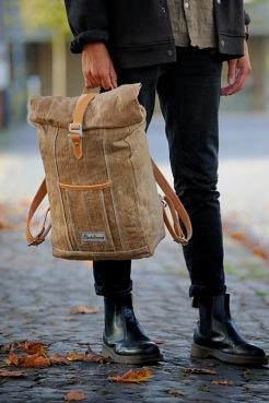 Ryggsäck för vardagen, hantverk i naturmaterial
