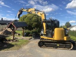 RB produkter har en grävare av modell CAT 308
