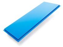 Blå fasadkasett