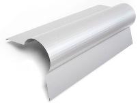 Rund nock ALU-Specialprofil för tex tak med pannplåt för att få en mjuk övergång på nocken och harmonisera med taket