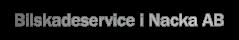 Bilskadeservice i Nacka AB - Logotype