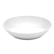 Plisse sallads-/pastatallrik djup vit - 23 cm