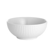 Plisse skål vit - 15 cm 60 cl