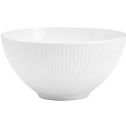 Plisse skål vit - 25 cm