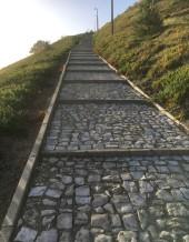 Trappan upp till Sitio erbjuder fantastisk utsikt