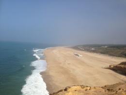Den norra stranden, Praia Norte, där världsrekordet i big wave surfing sattes
