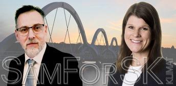 Nicklas Tarantino och Helena Malmqvist kartlägger och samordnar forskning som bidrar till att nå målet för stålindustrins klimatfärdplan.