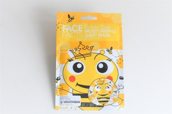 Face Facts Queen Bee Moisturizing Printed Sheet- Ansiktsmask 20ml - Face Facts Queen Bee Moisturizing Printed Sheet- Ansiktsmask 20ml