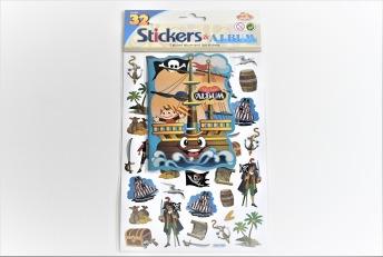 Piratklistermärken med samlarbok - Piratklistermärken med samlarbok