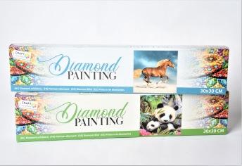 Diamantmålning 30x30cm - Diamantmålning 30x30cm - Panda