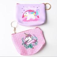 Unicorn börs med nyckelring