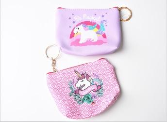 Unicorn börs med nyckelring - Unicorn börs med nyckelring - Lila