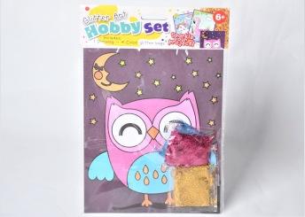 Glitter Art - Hobby Set Uggla - Glitter Art - Hobby Set Uggla