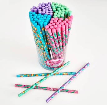 Blyertspenna med tulpaner - Blyertspenna med tulpaner