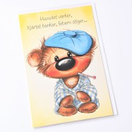 Nalle sjuk av längtan - Kort med kuvert