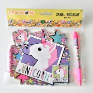 Unicorn - Notebook med penna