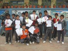 Glada stipendiater. Foto: Biva