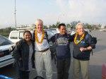 Vi möttes på flygplatsen av Biva och Pasang.  Ingrid och jag kom också med på bilden.