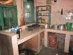 Köket som servar familjen och alla internatbarnen.