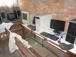 Datorsalen bl.a. med de nya datorerna som vi fick via Rotary´s U-fond i våras. Kopieringsmaskinen står i Birendras kontor.