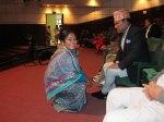 Biva och Nepals överbefälhavare vid invigningen.