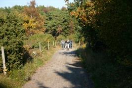 Cyklister vid Högen