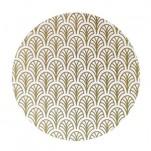 Palm Bordstablett, rund. 1 st guld
