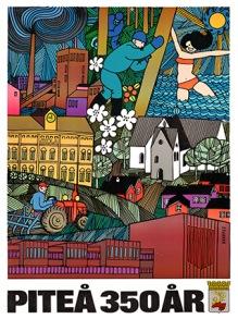 Poster; Piteå 350 år, 50*70 cm - Poster, Piteå 350 år 50*70