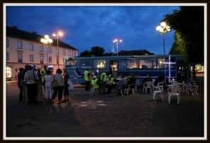 CaféBUSSEN på Torget i Lidköping en fredagskväll