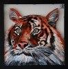 """0033""""Tiger2"""" Oljemålning med ram 30x30 cm Pris 1490:-"""
