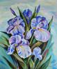 """Konst 0026""""Sommariris"""" Oljemålning med ram 60x50 cm Pris 1900:-."""