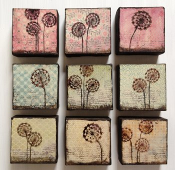 Dandelion, (10x10cm), NZD 30 each, 3 for NZD 80