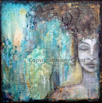 """Mixed Media on Canvas, 12""""x12"""", SOLD"""