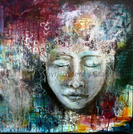 """""""Realize your true self"""", 76cm x 76 cm, 30""""x30"""", SOLD"""