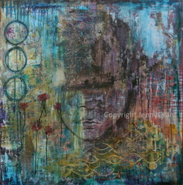 """The day I broke up with normal"", 120cmx120cm, SOLD"