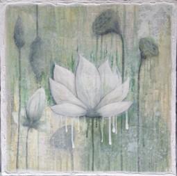 Lotus I, (46 x 46 cm), SOLD