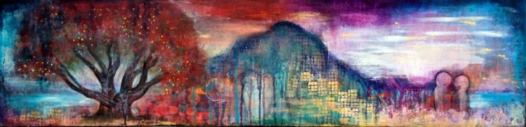 """The Mount"", 120cm x 30cm, 48""x12"", SOLD"