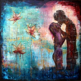 "Love, 120x120cm, (48""x48"") - SOLD"