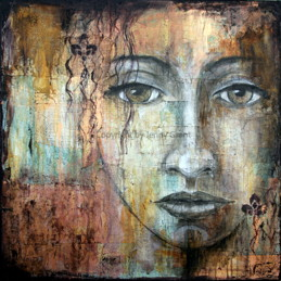 """Born to stand out"", 75cmx75cm (30""x30""), SOLD"