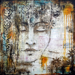"""Peace Within"", 60cmx60cm,  24""x24"", SOLD"